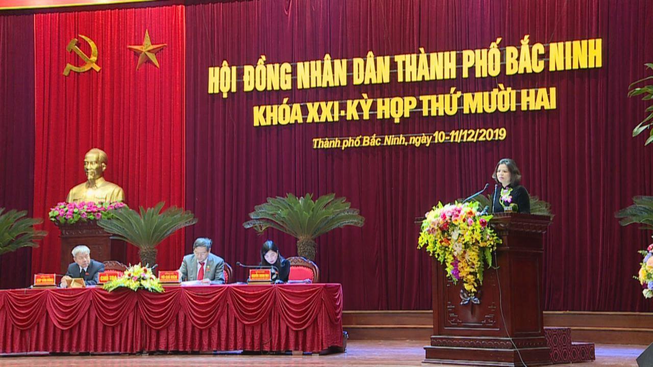 Kỳ họp thứ 12, HĐND thành phố Bắc Ninh khóa XXI