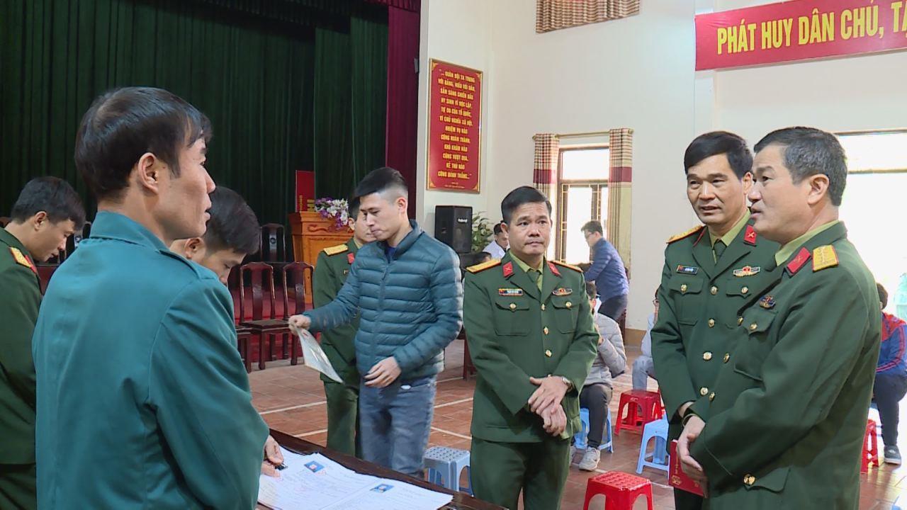 Bộ CHQS tỉnh kiểm tra công tác khám tuyển công dân sẵn sàng nhập ngũ
