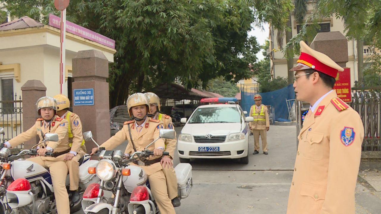 Ra quân cao điểm đảm bảo an toàn giao thông, trật tự xã hội dịp lễ tết năm 2020