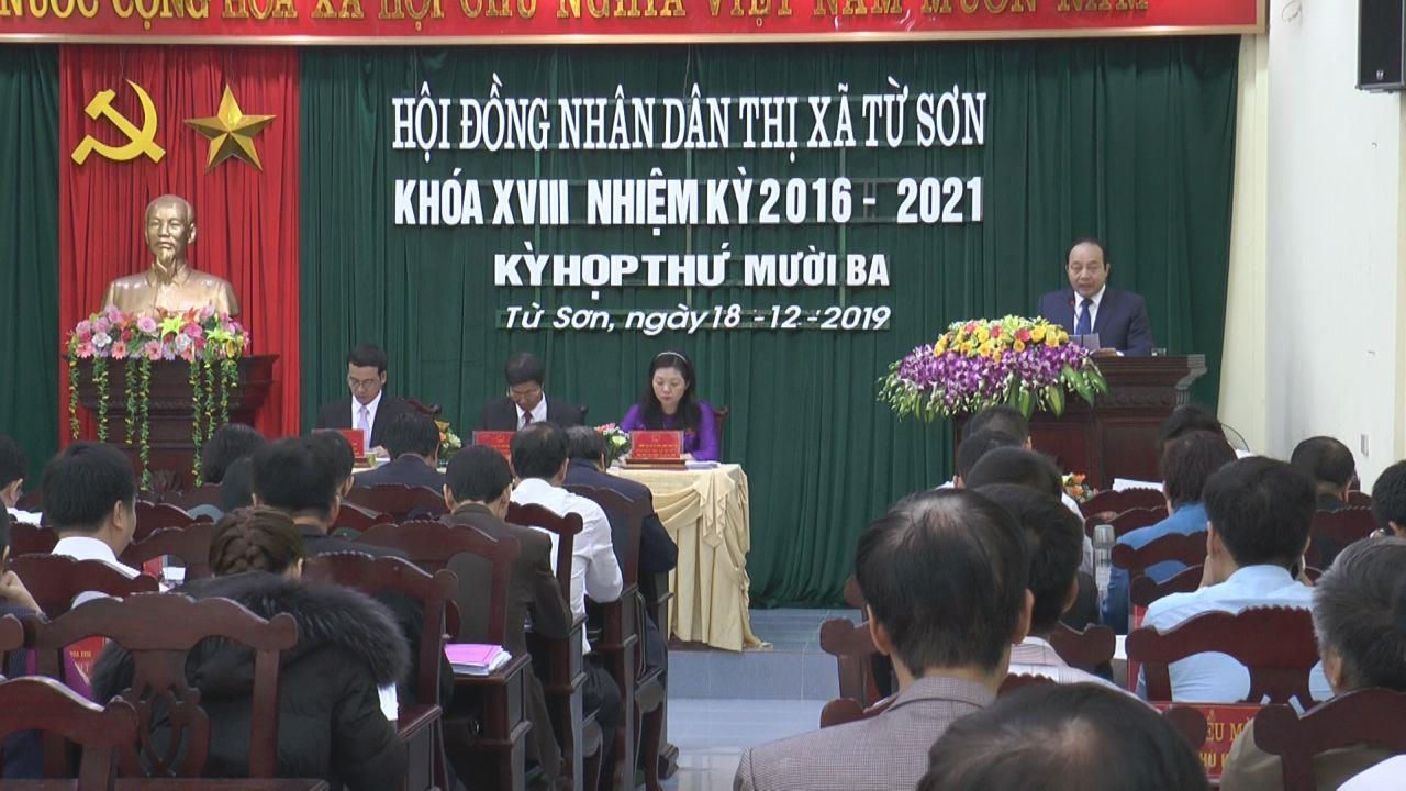 Kỳ họp thứ 13, HĐND thị xã Từ Sơn khóa XVIII