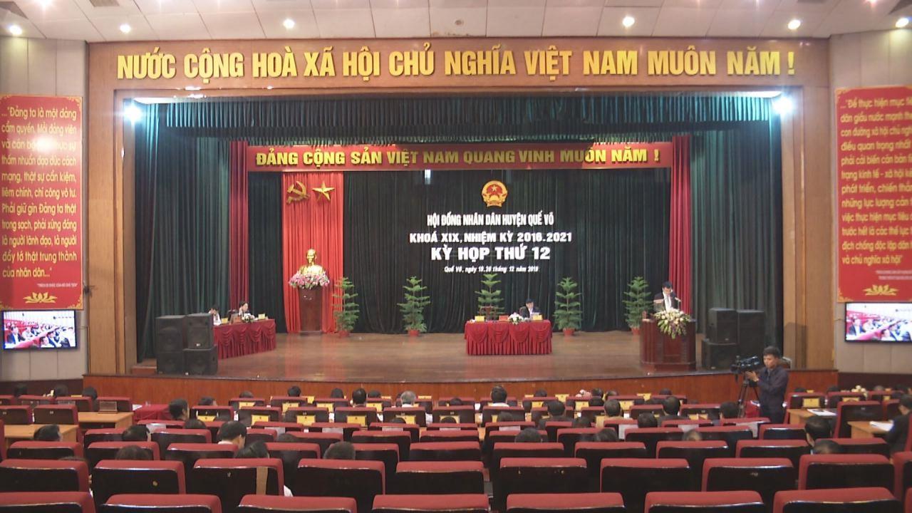 Khai mạc Kỳ họp thứ 12 HĐND huyện Quế Võ khóa XIX