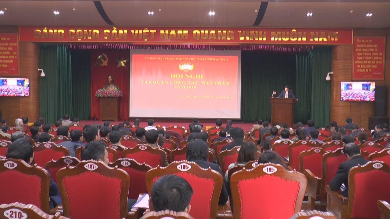Hội nghị tập huấn công tác Mặt trận năm 2019