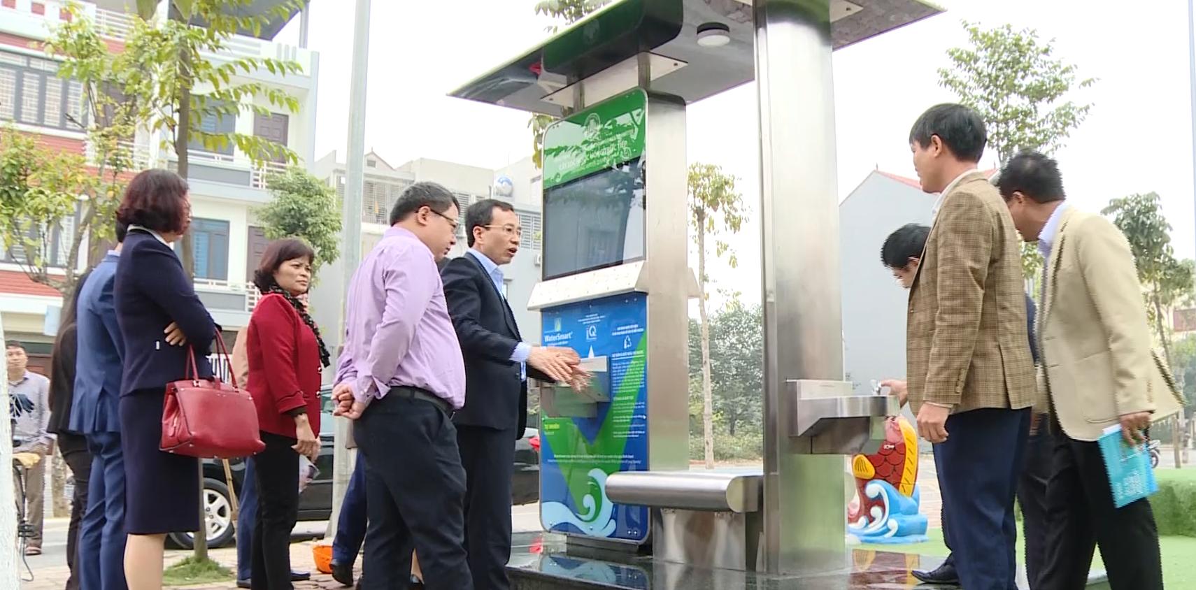 Thành phố Bắc Ninh nghiệm thu 10 cây nước uống miễn phí