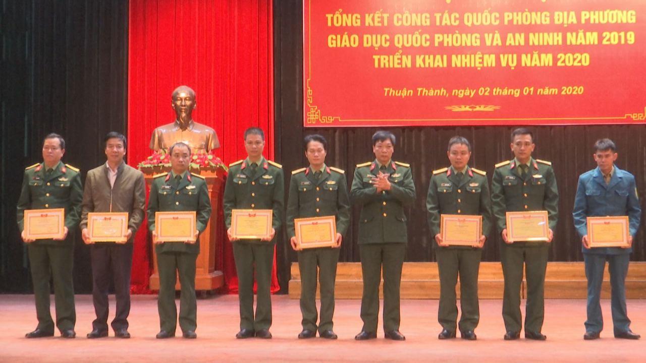 Thuận Thành triển khai công tác quốc phòng địa phương năm 2020
