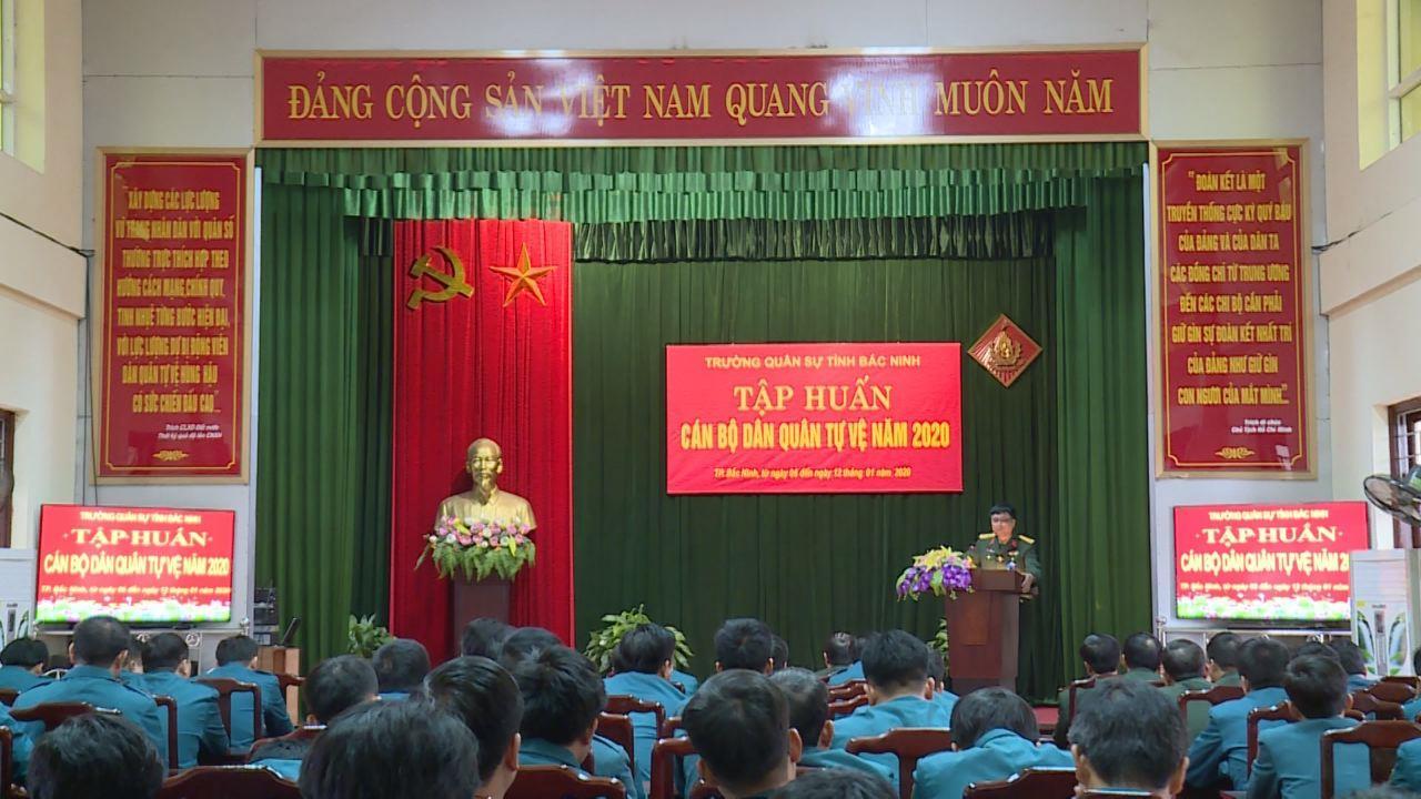 Trường Quân sự tỉnh khai mạc tập huấn dân quân tự vệ
