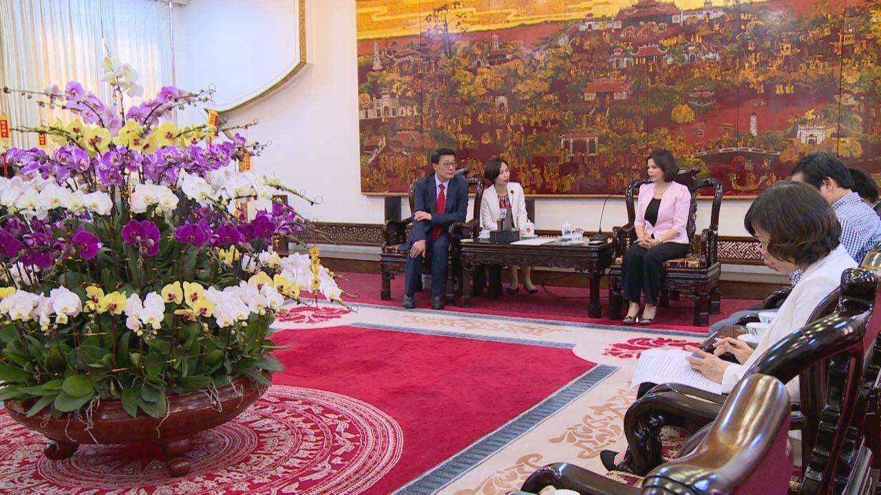 Chủ tịch UBND tỉnh tiếp Tổng Giám đốc Công ty Hyosung TNS (Hàn Quốc)