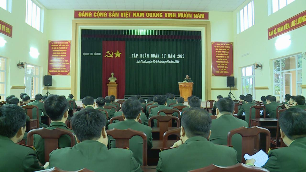Bộ CHQS tỉnh tập huấn quân sự năm 2020