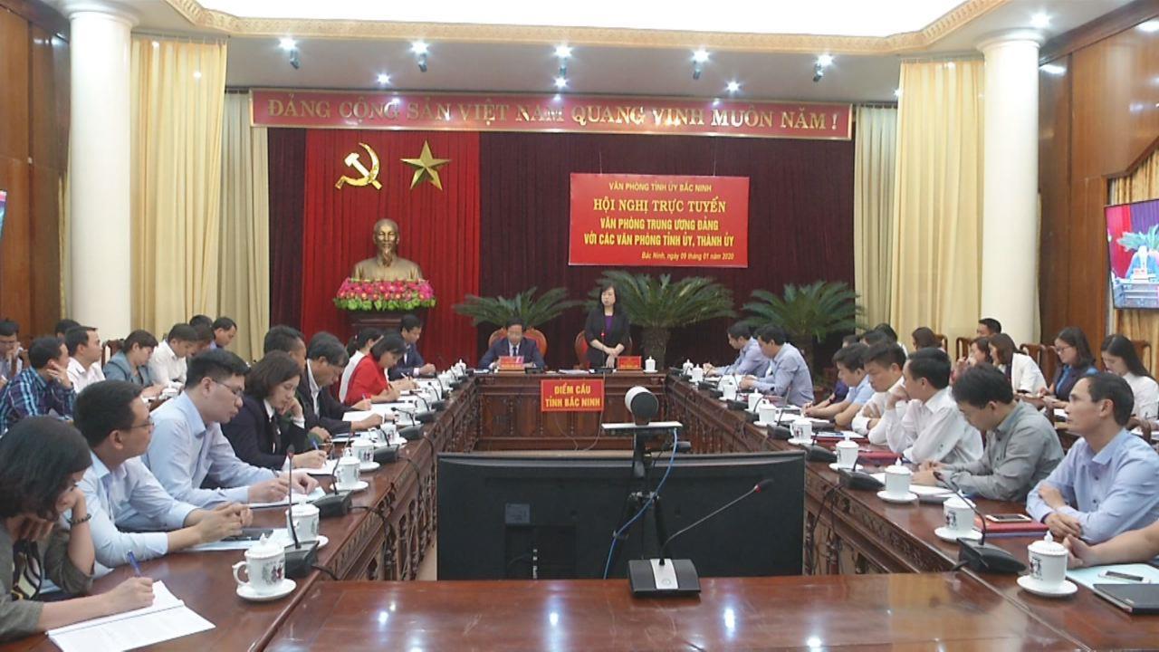 Hội nghị trực tuyến Văn phòng Trung ương Đảng  với các Văn phòng Tỉnh ủy, Thành ủy