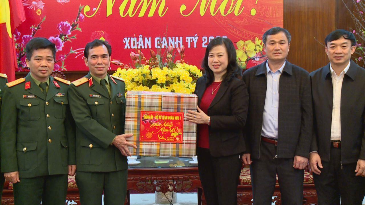 Bộ Tư lệnh Quân khu 1 chúc Tết tỉnh Bắc Ninh