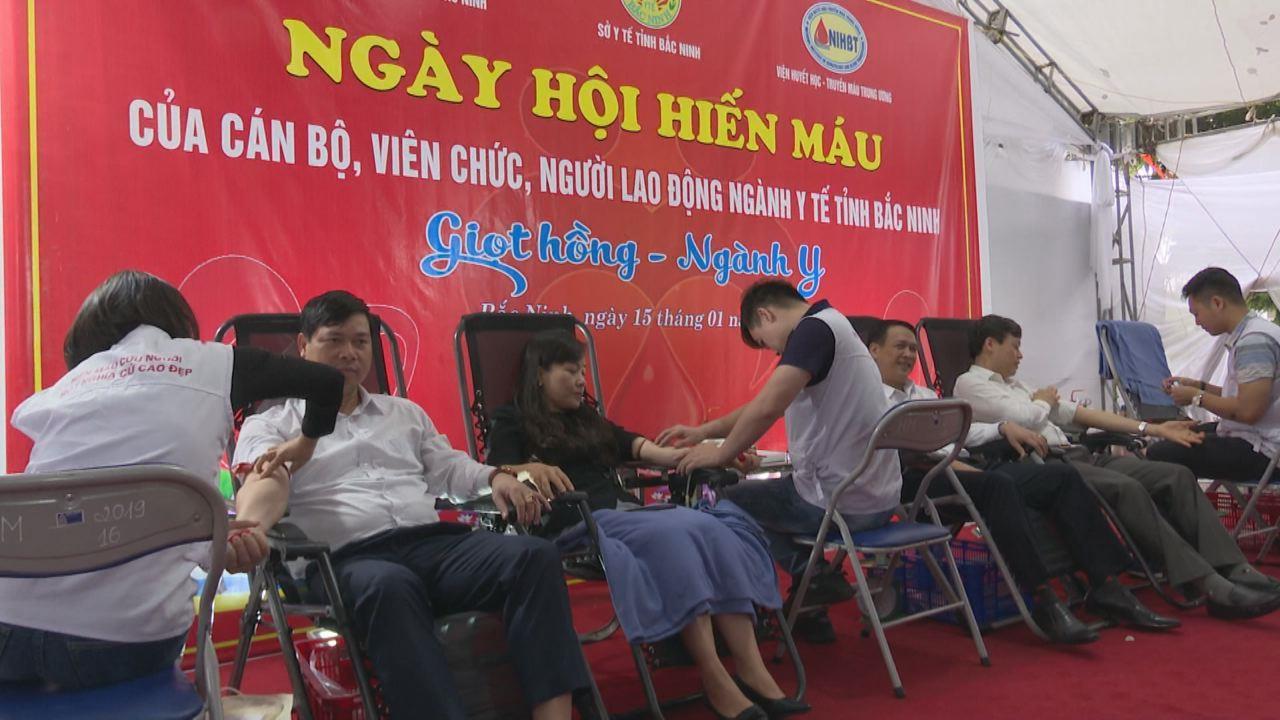Ngành Y tế Bắc Ninh tổ chức hiến máu nhân đạo