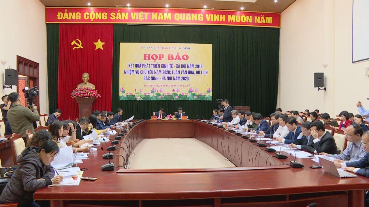 Họp báo về tình hình kinh tế - xã hội;  Tuần Văn hóa, Du lịch Bắc Ninh – Hà Nội năm 2020