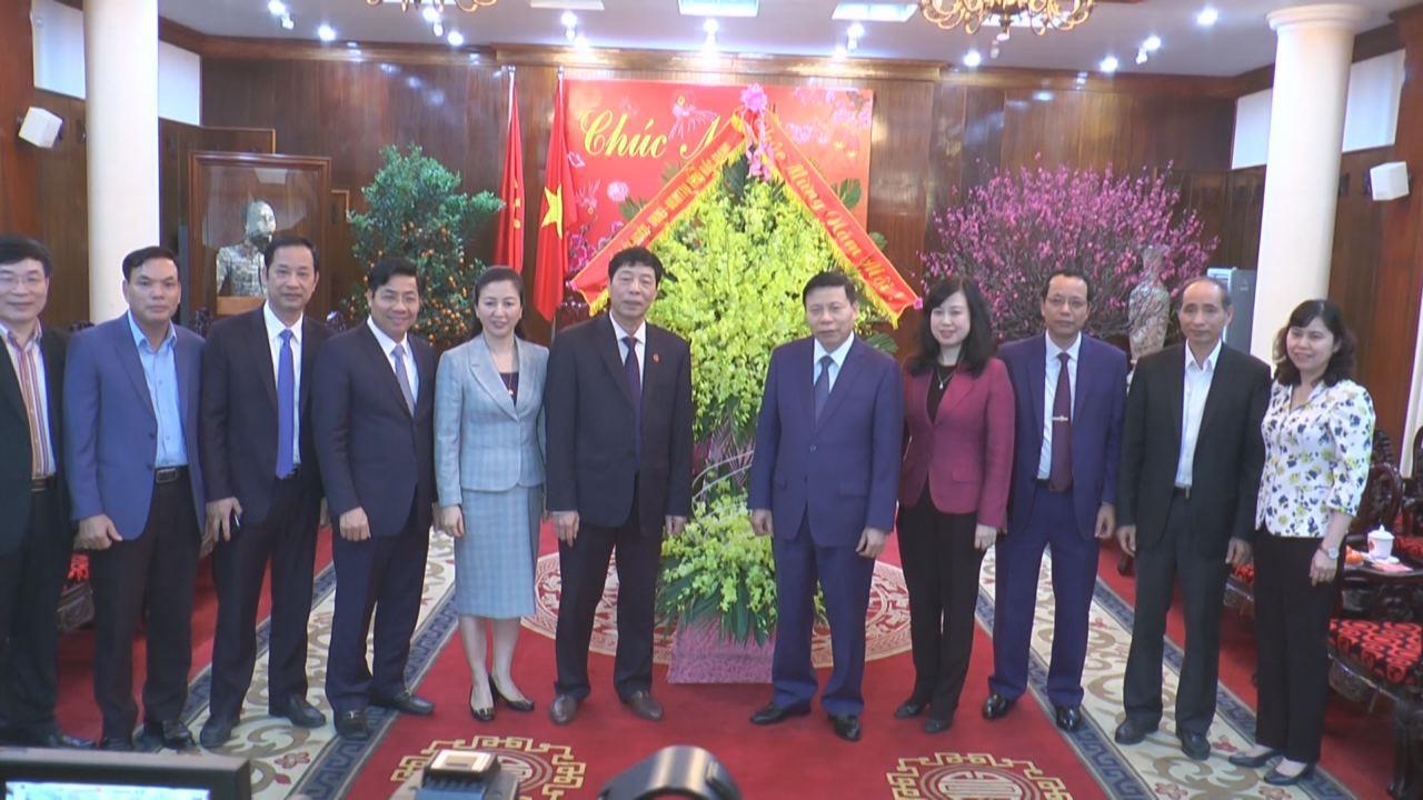 Đoàn đại biểu tỉnh Bắc Giang thăm, chúc Tết tỉnh Bắc Ninh