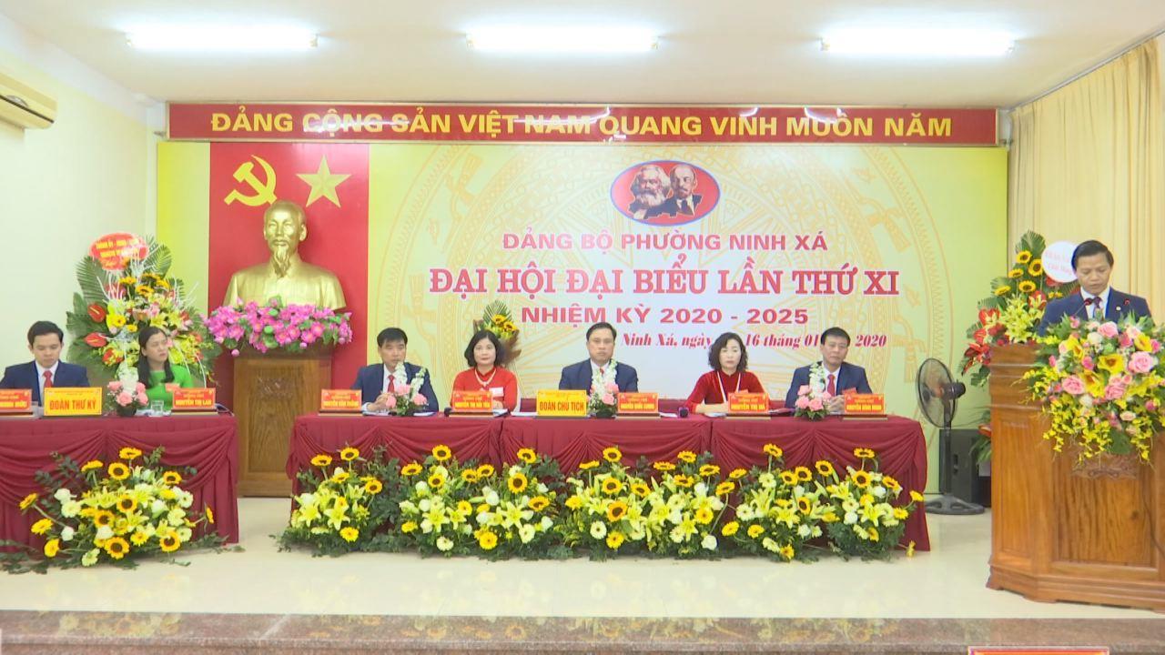 Đại hội điểm Đảng bộ phường Ninh Xá, thành phố Bắc Ninh