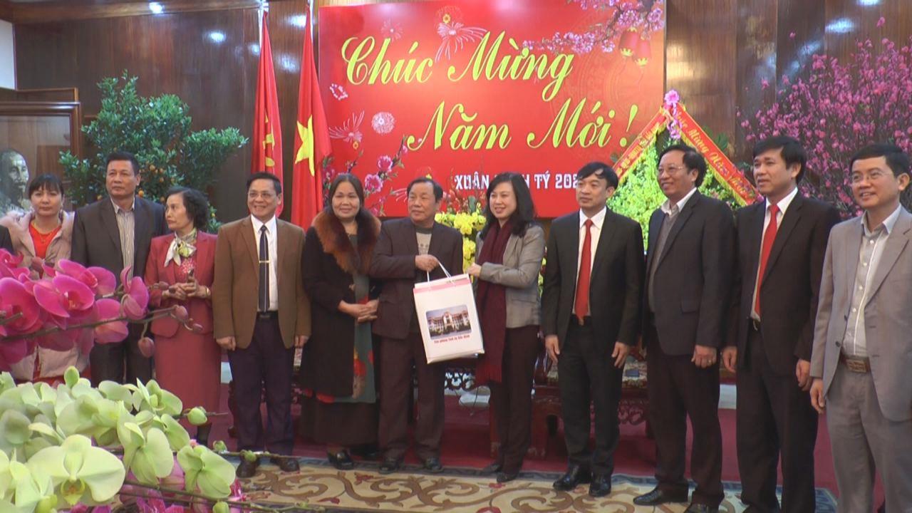 Hội đồng hương Bắc Ninh tại Thái Nguyên  chúc Tết đảng bộ và nhân dân quê hương