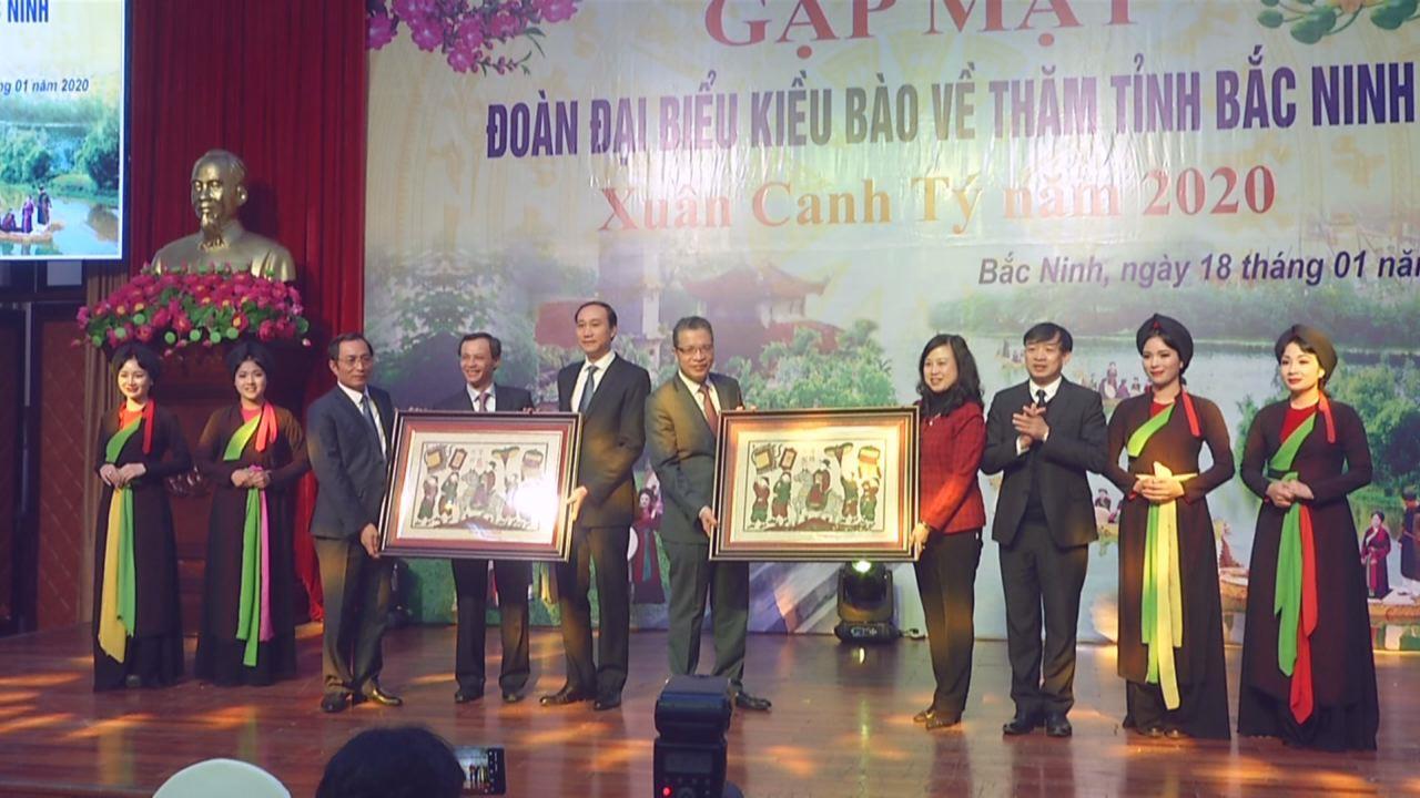 Gặp mặt đoàn đại biểu kiều bào về thăm Bắc Ninh