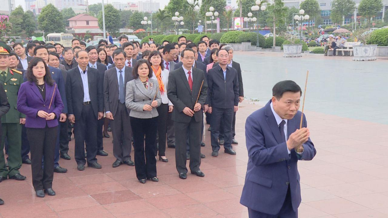 Lãnh đạo tỉnh dâng hương tưởng niệm các Anh hùng liệt sỹ và Tổng Bí thư Nguyễn Văn Cừ