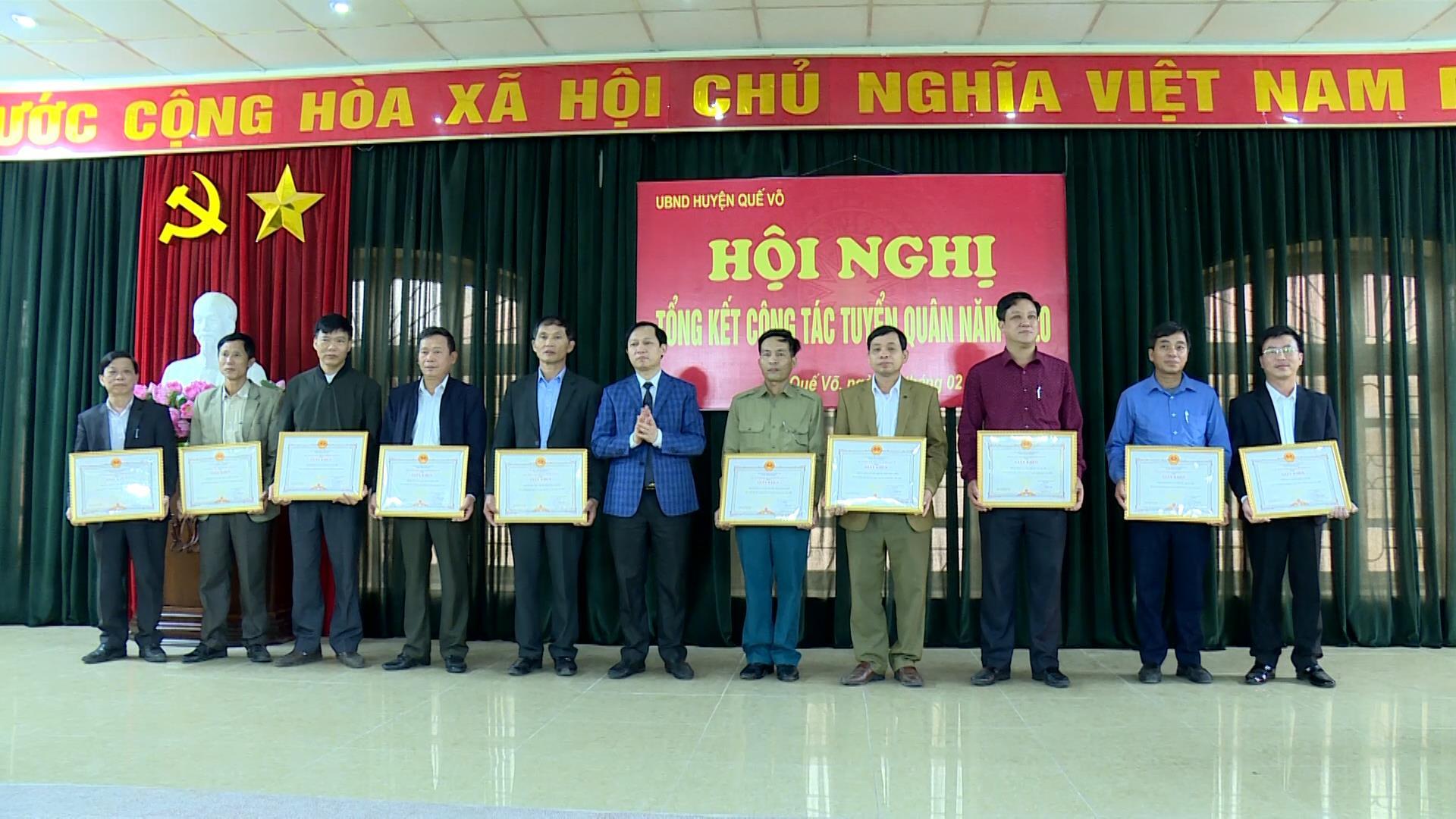 Huyện Quế Võ tổng kết công tác tuyển quân năm 2020