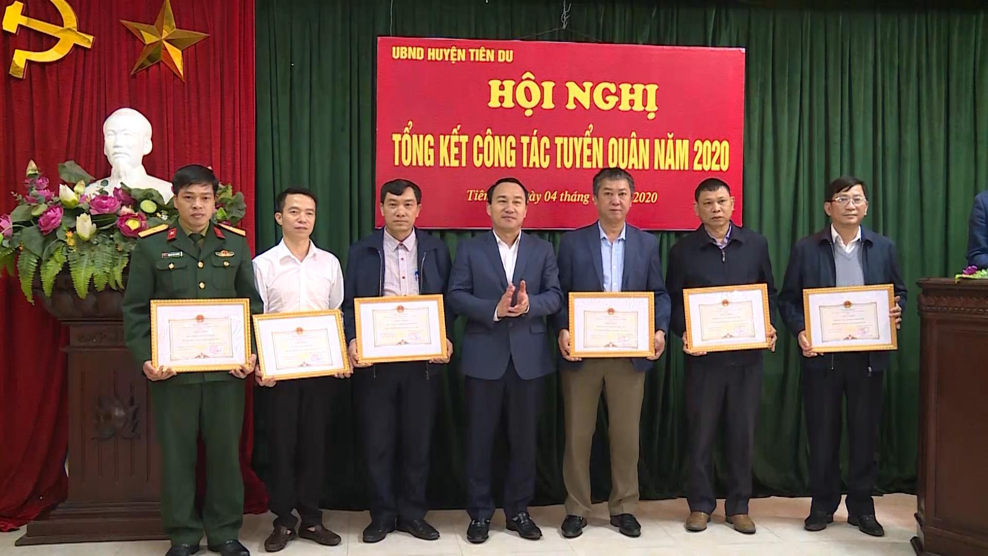 Huyện Tiên Du tổng kết công tác tuyển quân năm 2020