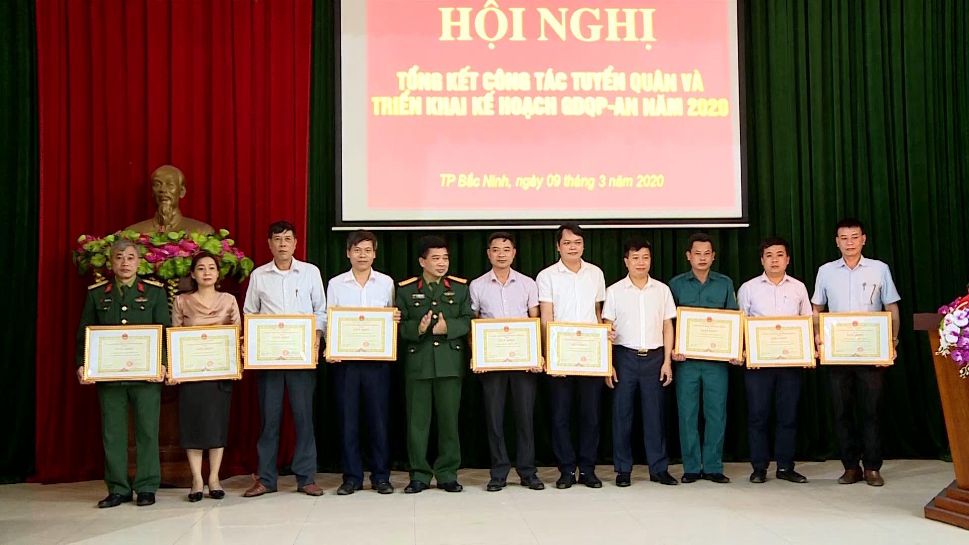 Thành phố Bắc Ninh tổng kết công tác tuyển quân năm 2020