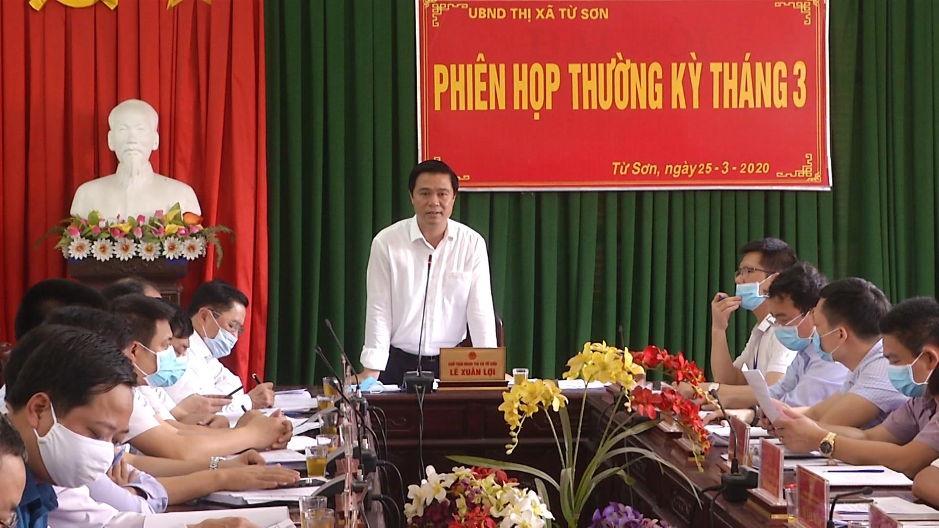 Thị xã Từ Sơn họp phiên thường kỳ tháng 3
