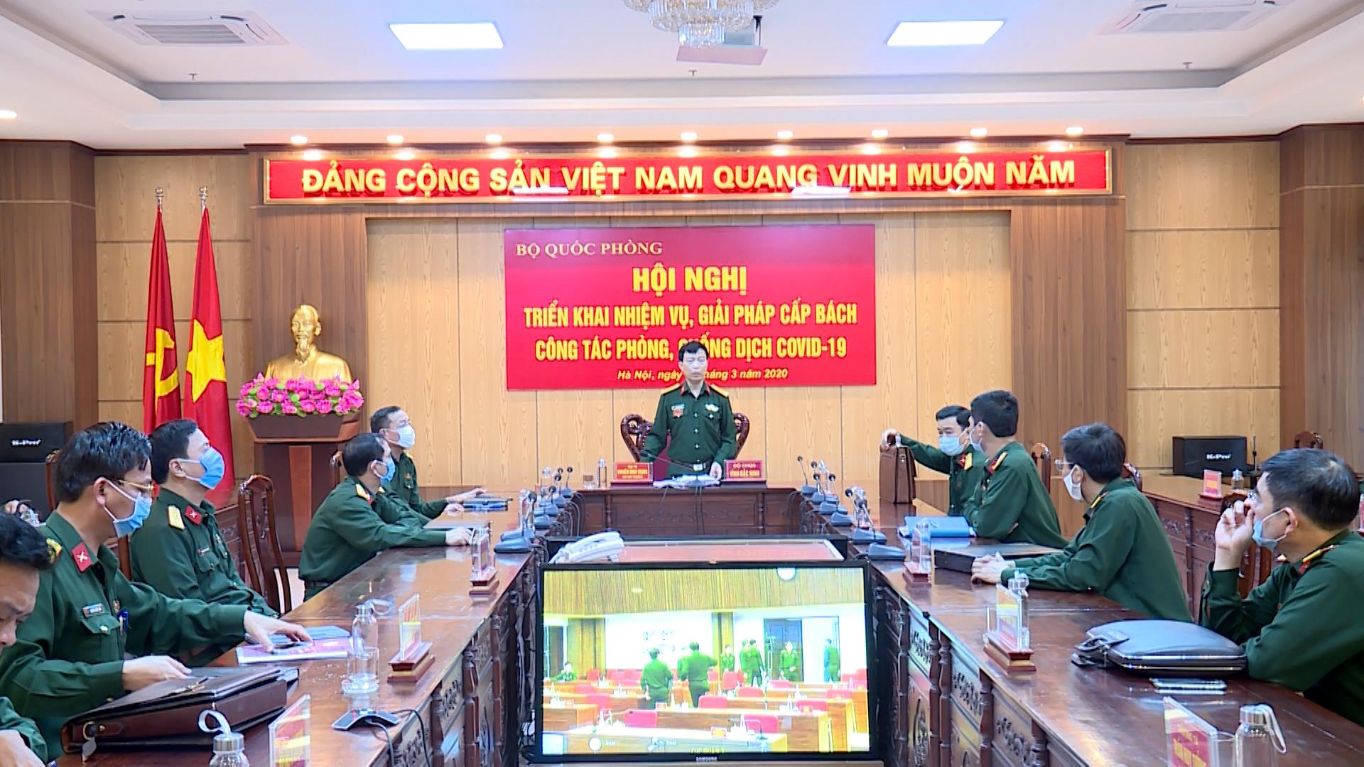 Bộ Quốc phòng triển khai nhiệm vụ, giải pháp cấp bách phòng, chống dịch