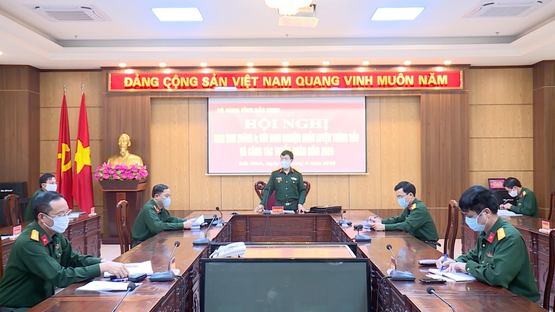 Bộ CHQS tỉnh rút kinh nghiệm tháng đầu huấn luyện và công tác tuyển quân năm 2020