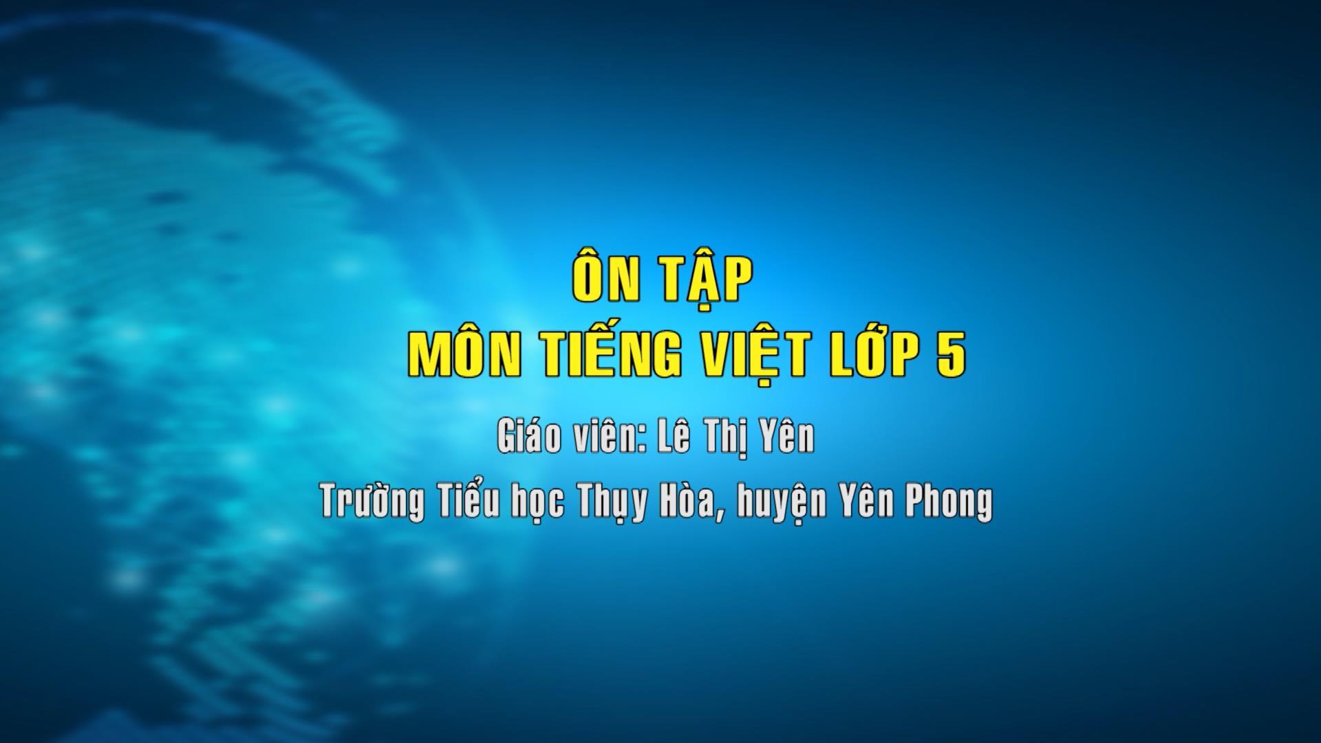 Tiếng Việt lớp 5 số 12