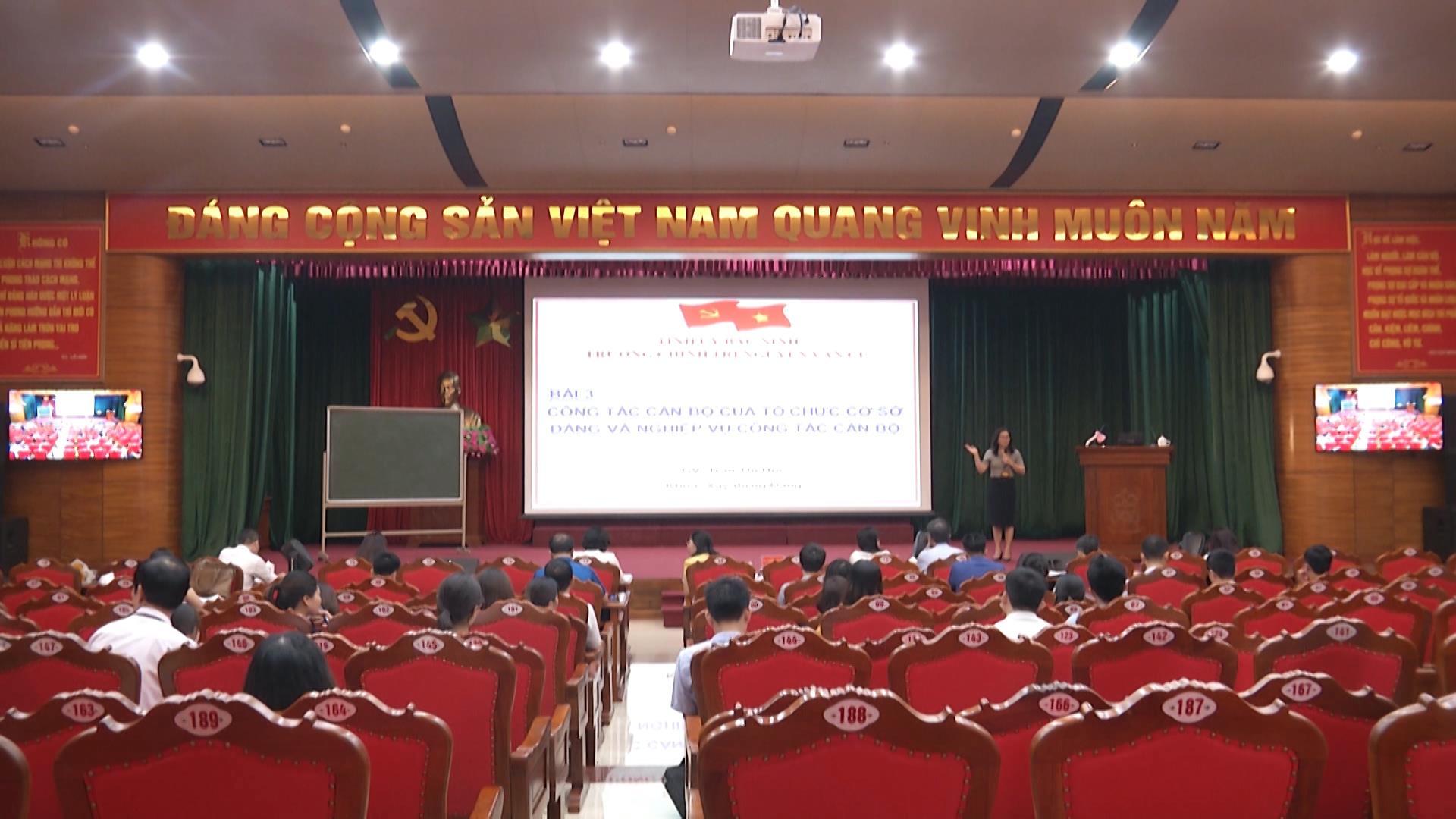 Trường Chính trị Nguyễn Văn Cừ tổ chức Thao giảng năm 2020