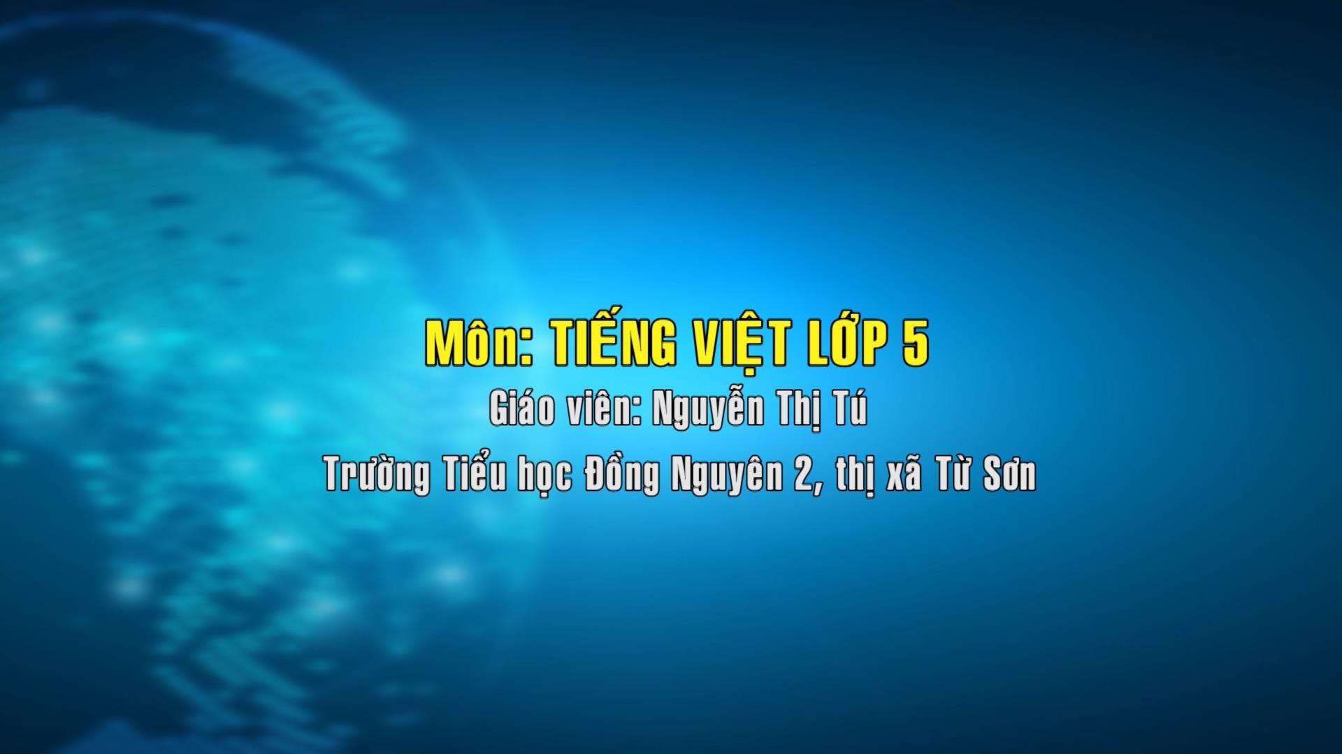 Tiếng Việt lớp 5 số 15