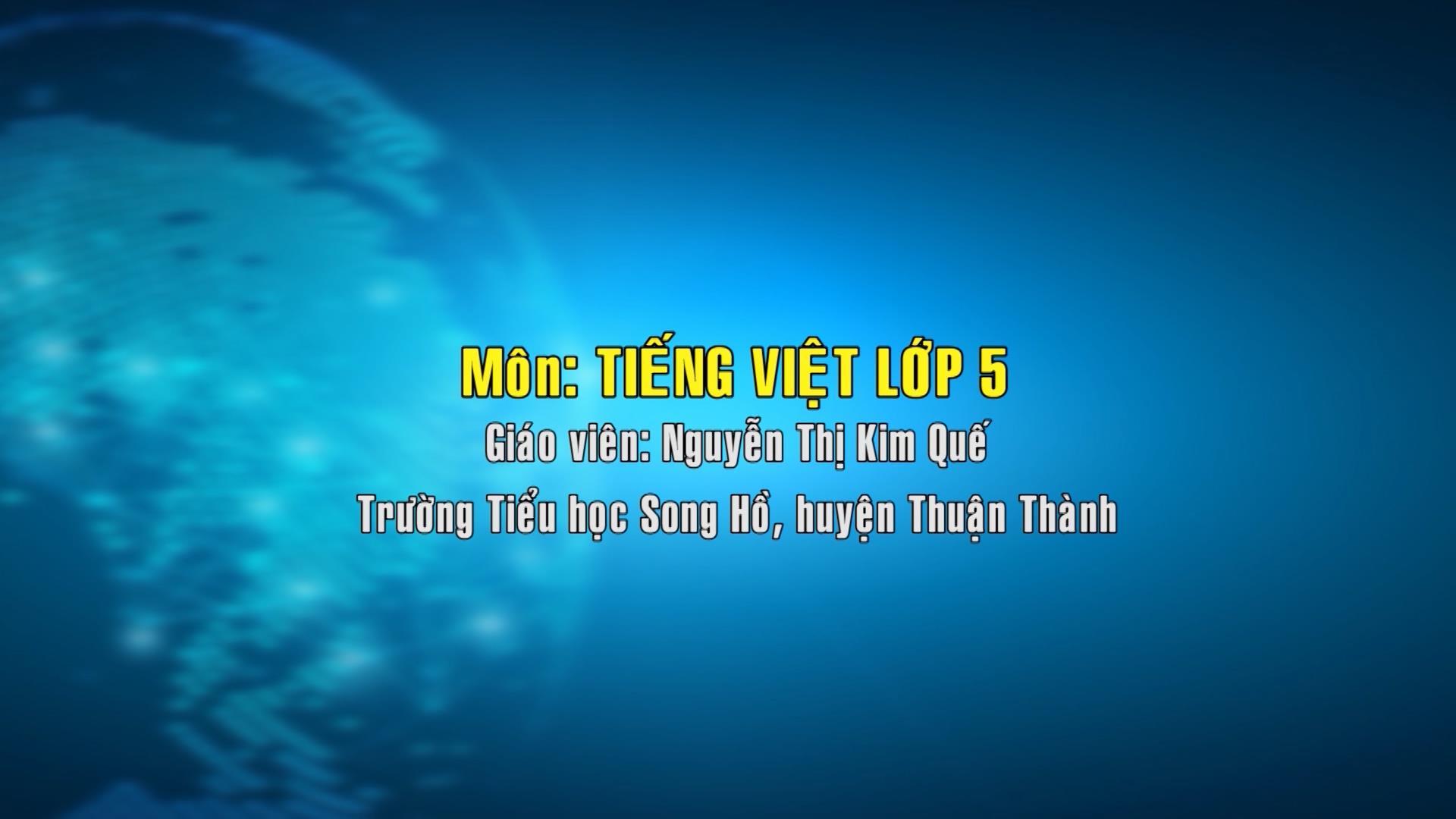 Tiếng Việt lớp 5 sô 16