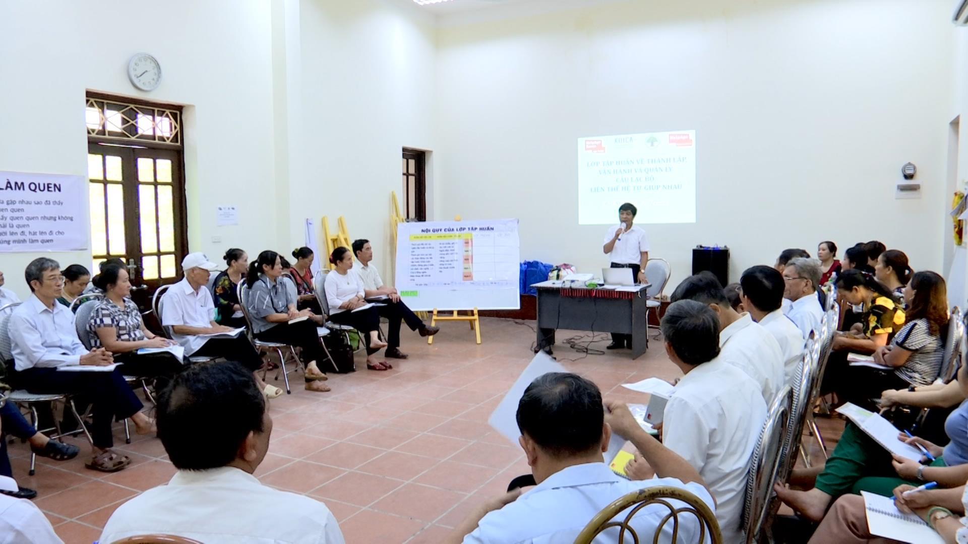 Tập huấn thành lập, vận hành và quản lý CLB Liên thế hệ tự giúp nhau