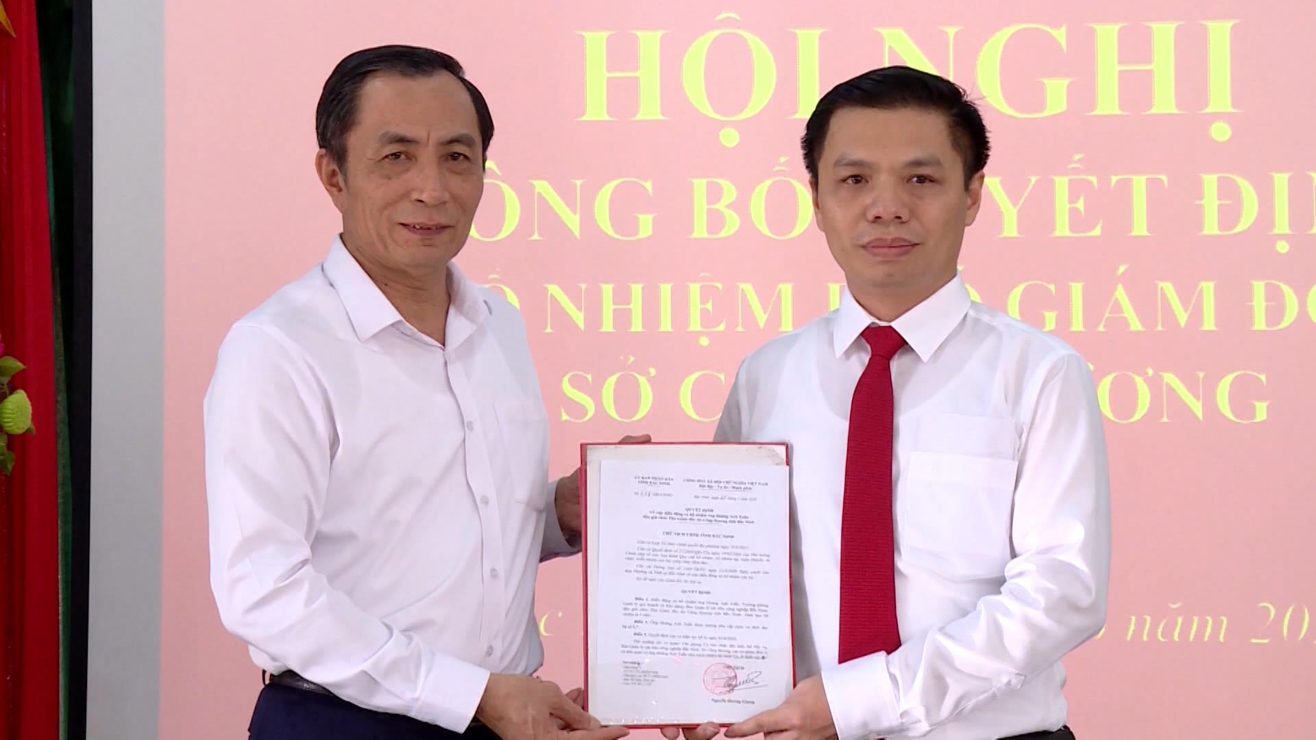 Công bố Quyết định bổ nhiệm Phó Giám đốc Sở Công thương