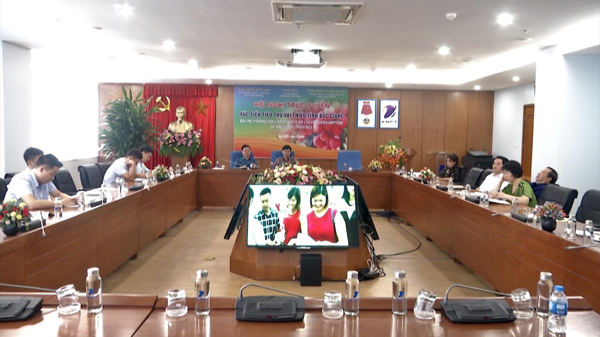 Hội nghị trực tuyến xúc tiến tiêu thụ vải thiều trong và ngoài nước