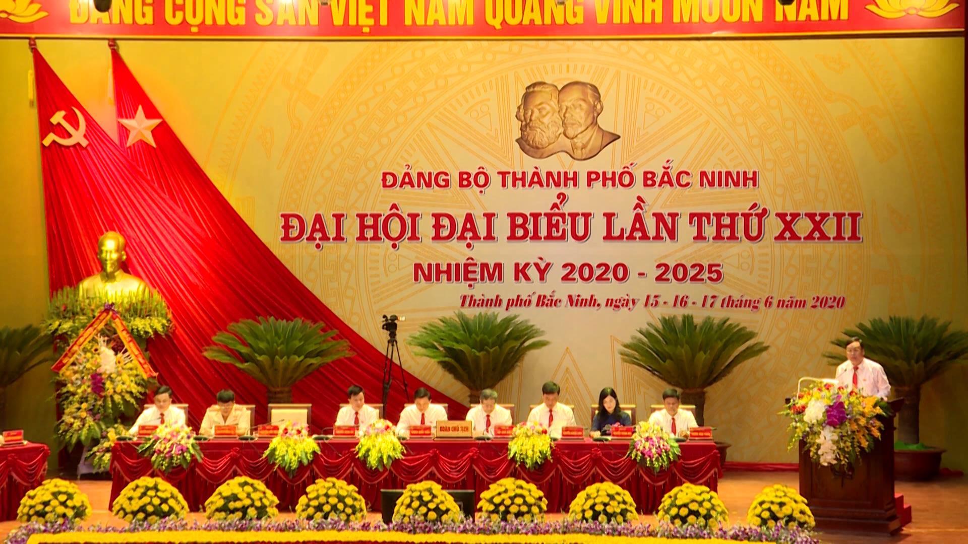 Phiên thứ nhất Đại hội Đảng bộ thành phố Bắc Ninh lần thứ XXII