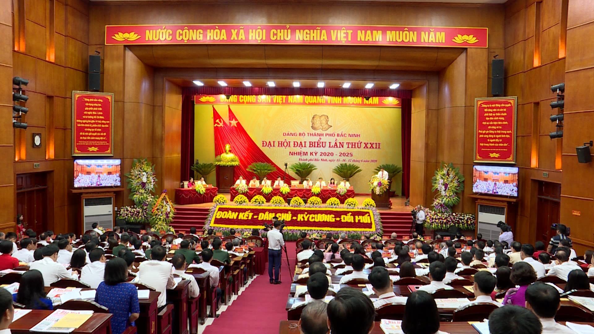 Khai mạc Đại hội đại biểu Đảng bộ thành phố Bắc Ninh lần thứ XXII
