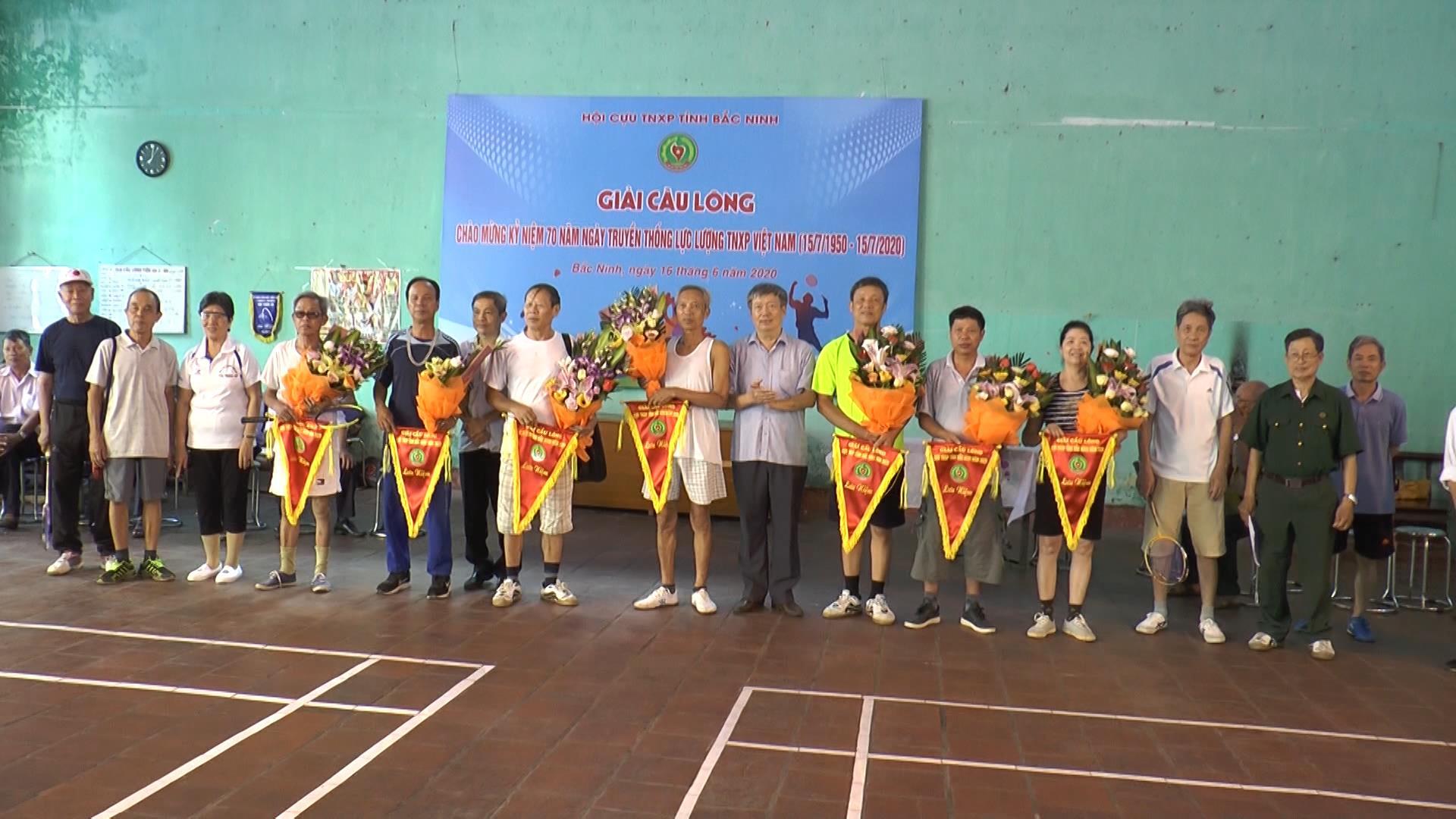 Giải Cầu lông Hội Cựu thanh niên xung phong tỉnh