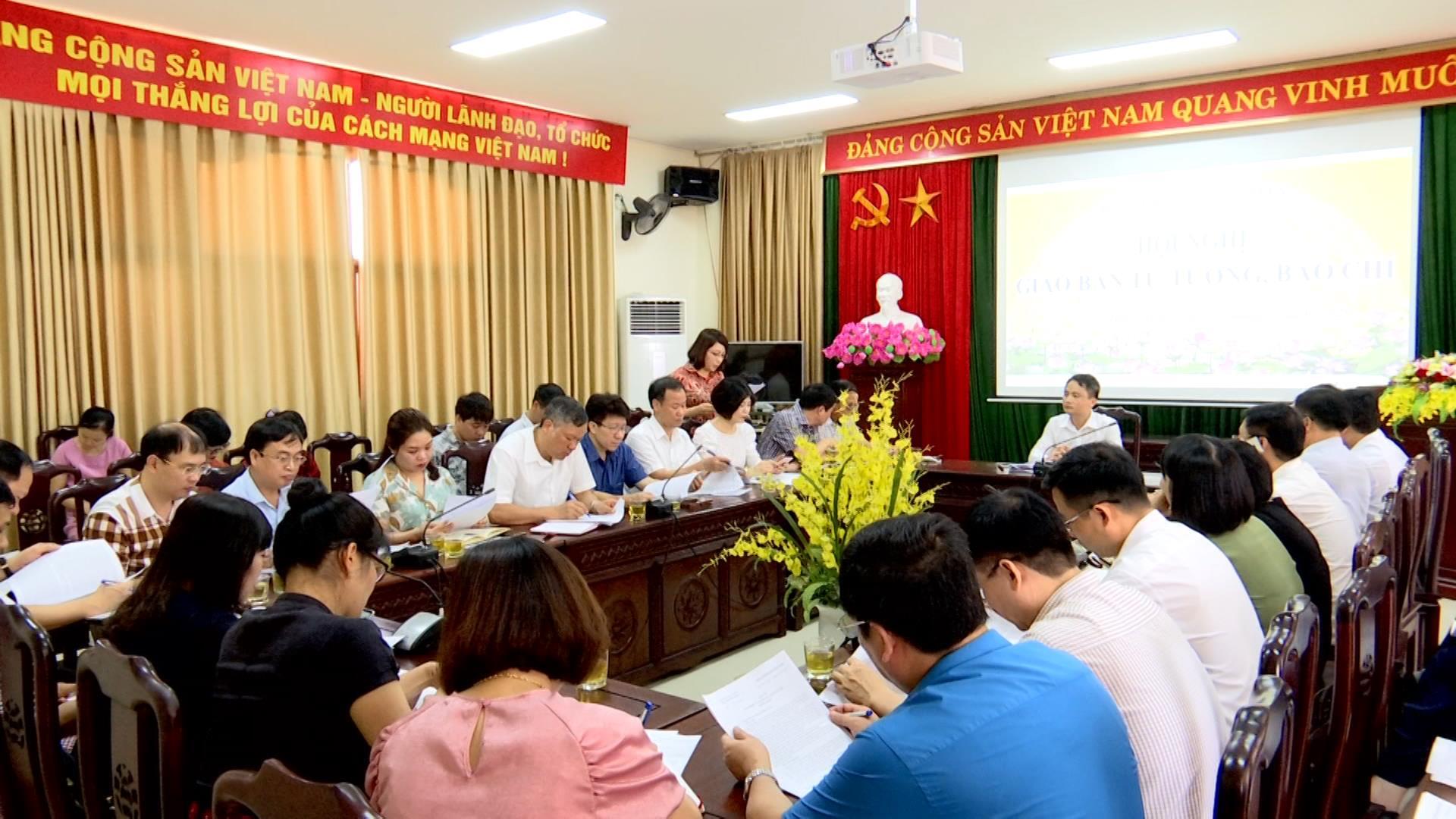 Ban Tuyên giáo Tỉnh ủy giao ban tư tưởng, báo chí tháng 6