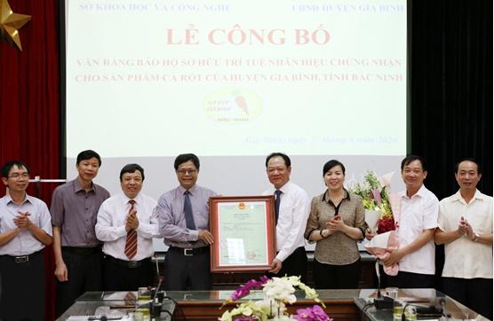 Công bố Nhãn hiệu chứng nhận sản phẩm Cà rốt huyện Gia Bình