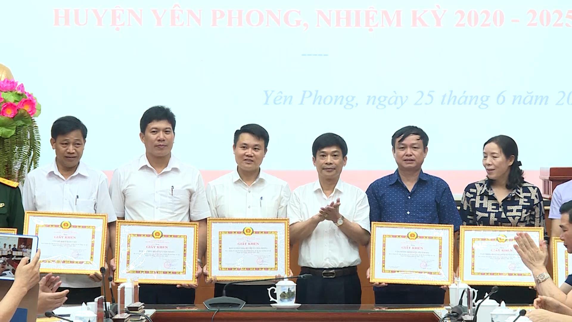 Huyện Yên Phong tổng kết Đại hội Đảng các cấp nhiệm kỳ 2020-2025