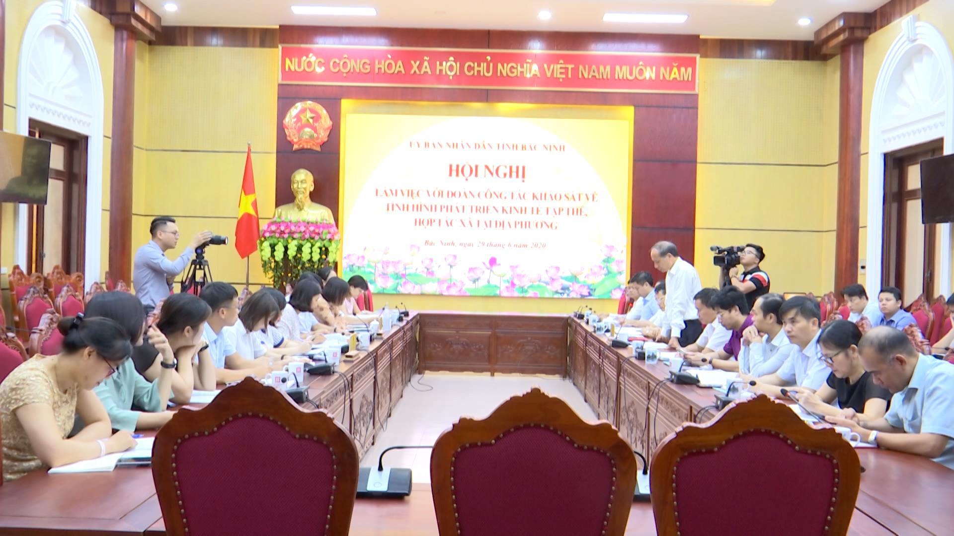 Đoàn công tác Trung ương khảo sát tình hình hoạt động HTX tại Bắc Ninh