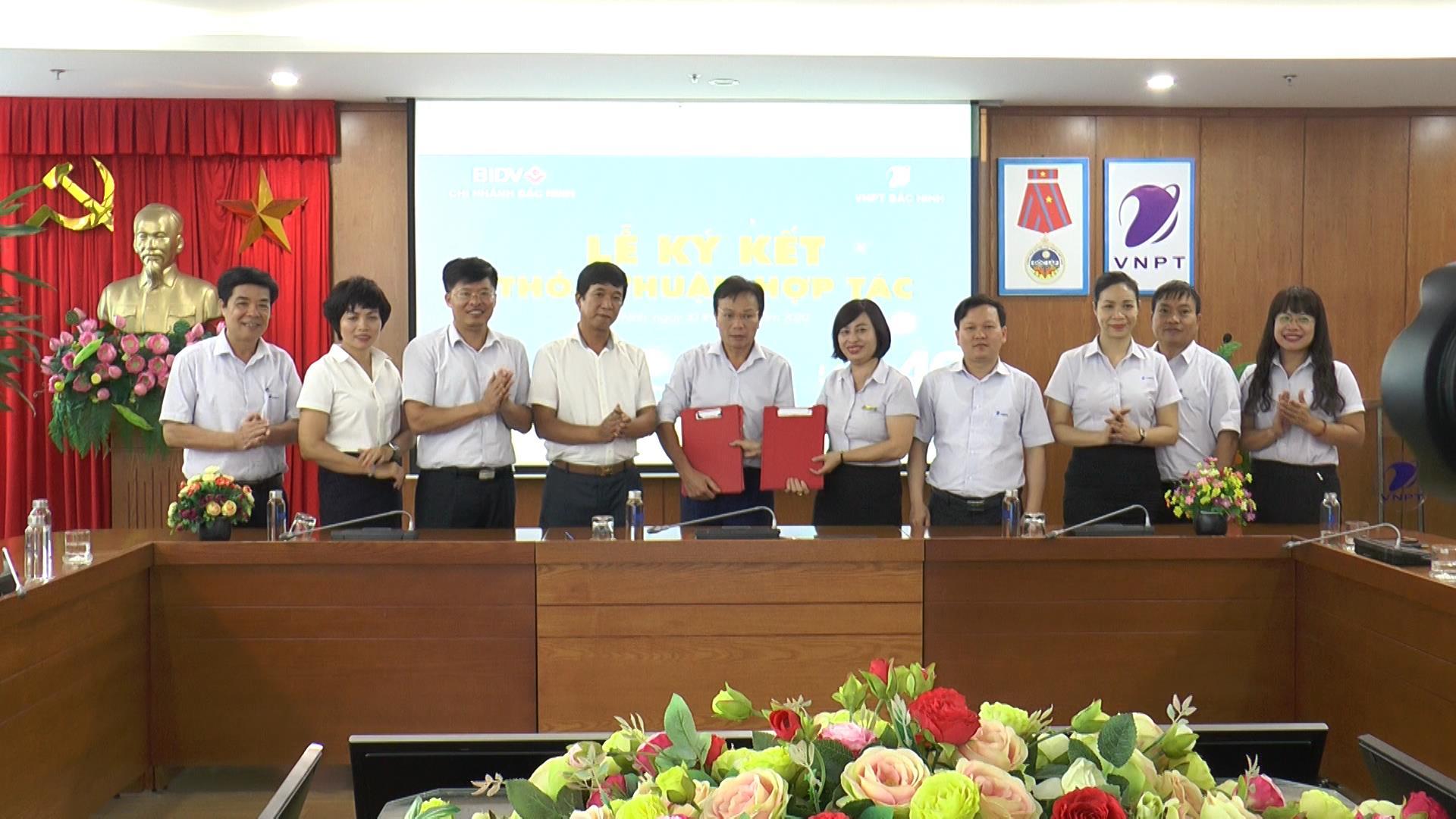 Ký kết thỏa thuận hợp tác giữa VNPT Bắc Ninh và BIDV Bắc Ninh
