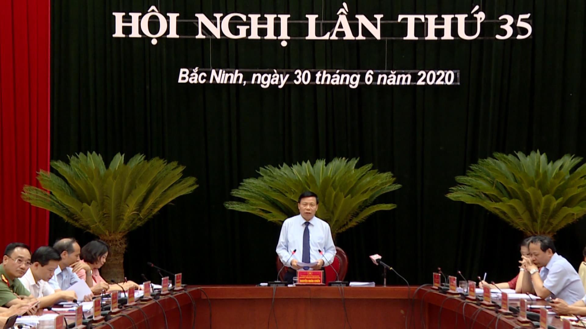 Hội nghị lần thứ 35 Ban Chấp hành Đảng bộ tỉnh khóa XIX