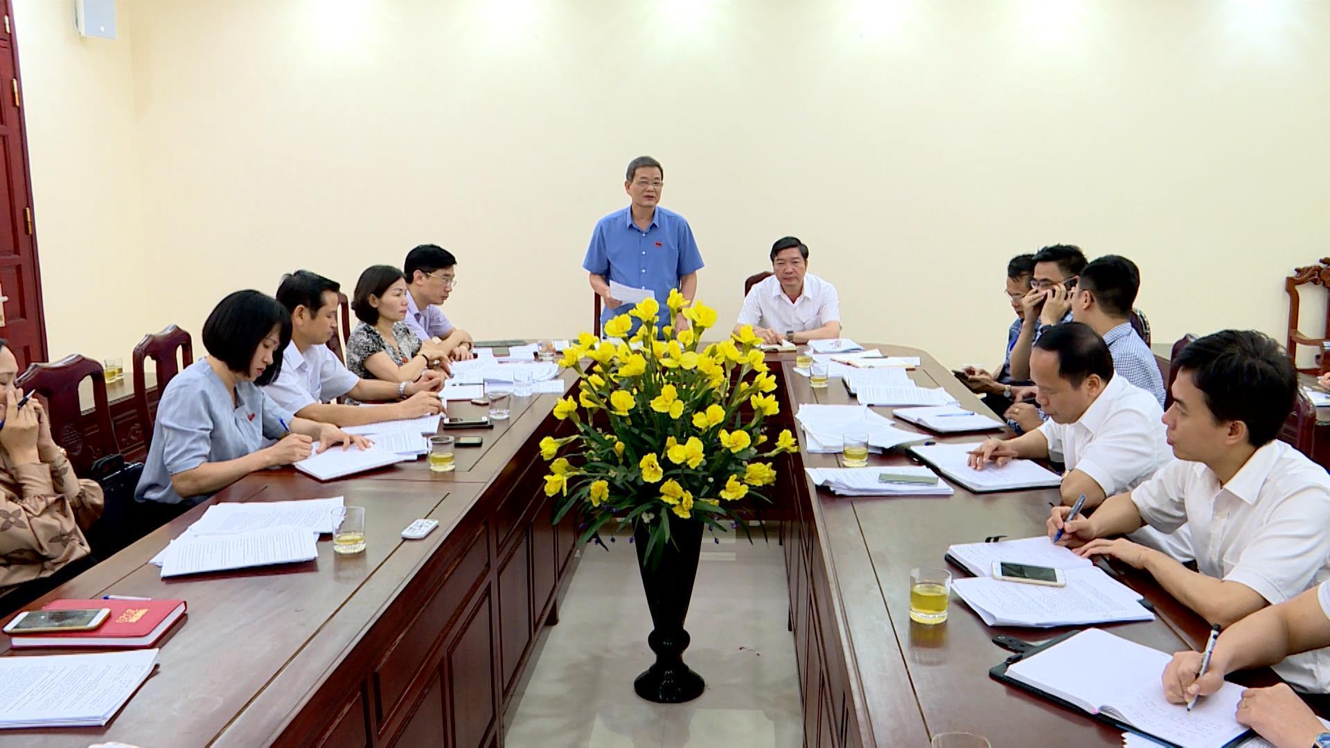 Ban Kinh tế - Ngân sách, Hội đồng nhân dân tỉnh giám sát tại Sở Kế hoạch và Đầu tư