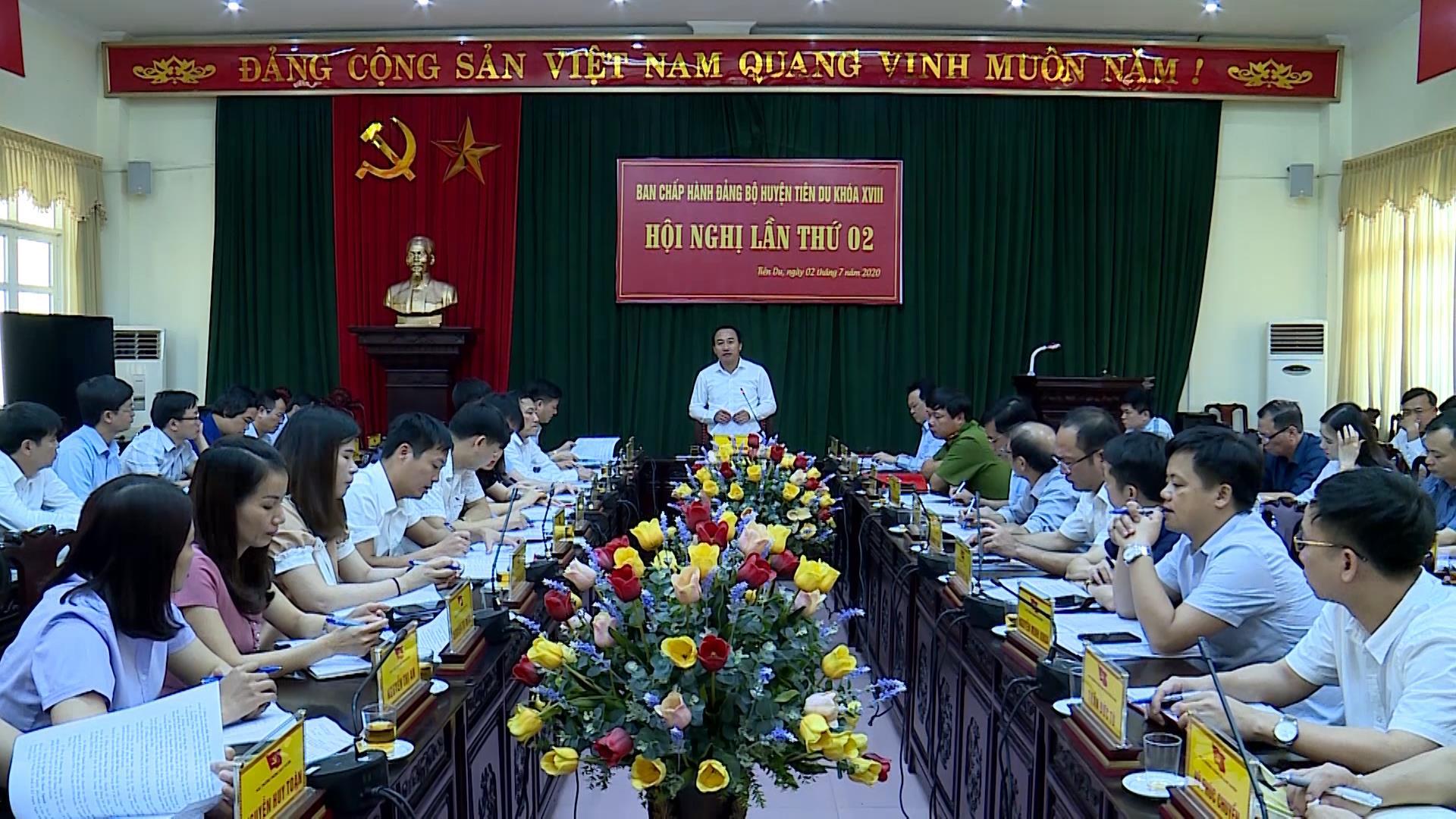 Hội nghị lần thứ 2, Ban chấp hành Đảng bộ huyện Tiên Du khóa 18