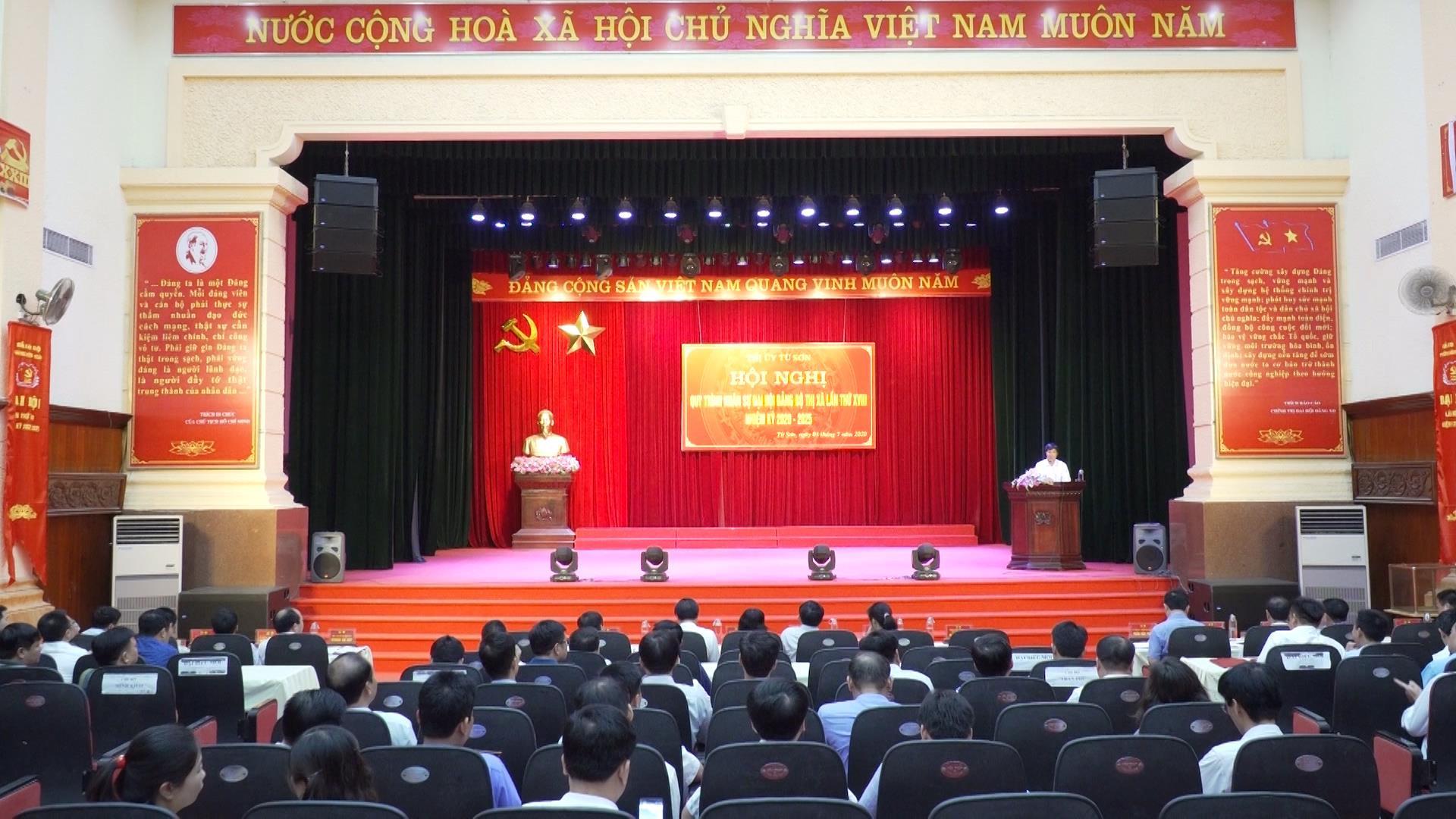 Thị ủy Từ Sơn tổ chức quy trình công tác nhân sự Đại hội Đảng bộ thị xã