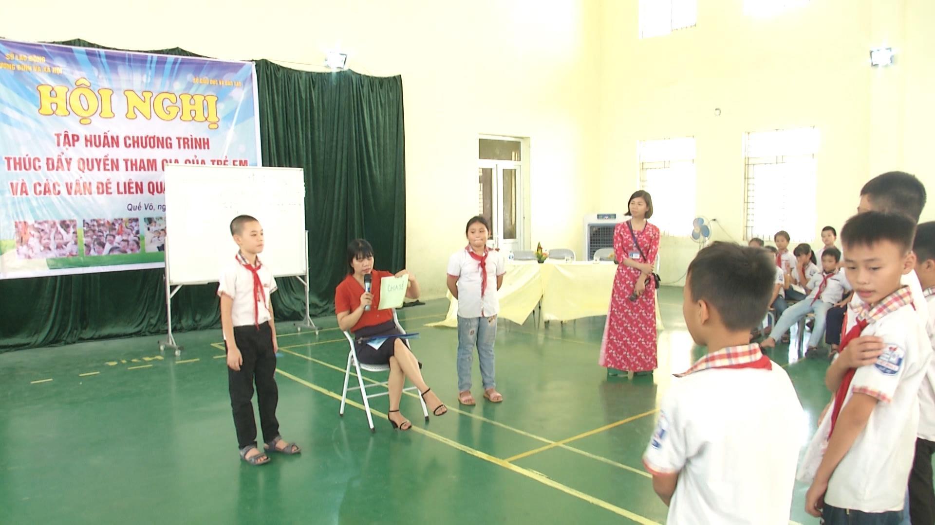 Tập huấn Chương trình thúc đẩy quyền tham gia của trẻ em