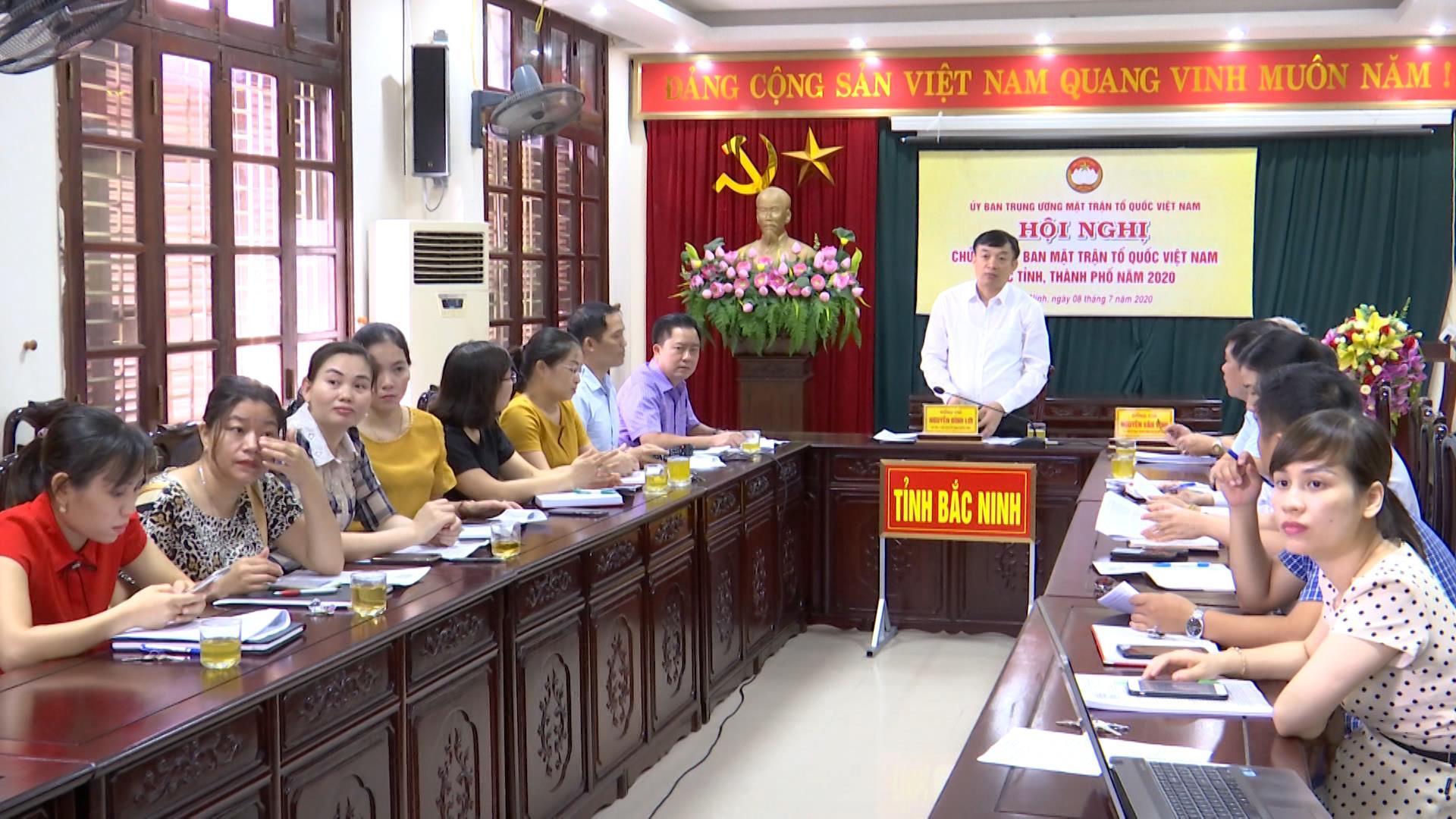 Hội nghị Chủ tịch Ủy ban MTTQ các tỉnh, thành phố 2020
