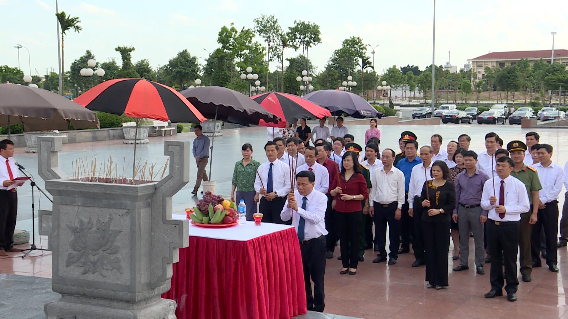 Lãnh đạo tỉnh dâng hương tưởng niệm Tổng Bí thư Nguyễn Văn Cừ