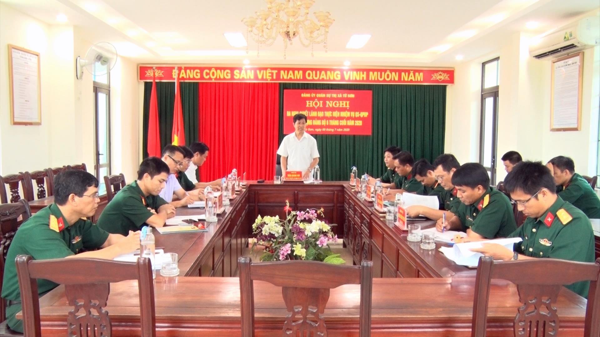 Đảng ủy Quân sự thị xã Từ Sơn ra Nghị quyết lãnh đạo thực hiện nhiệm vụ