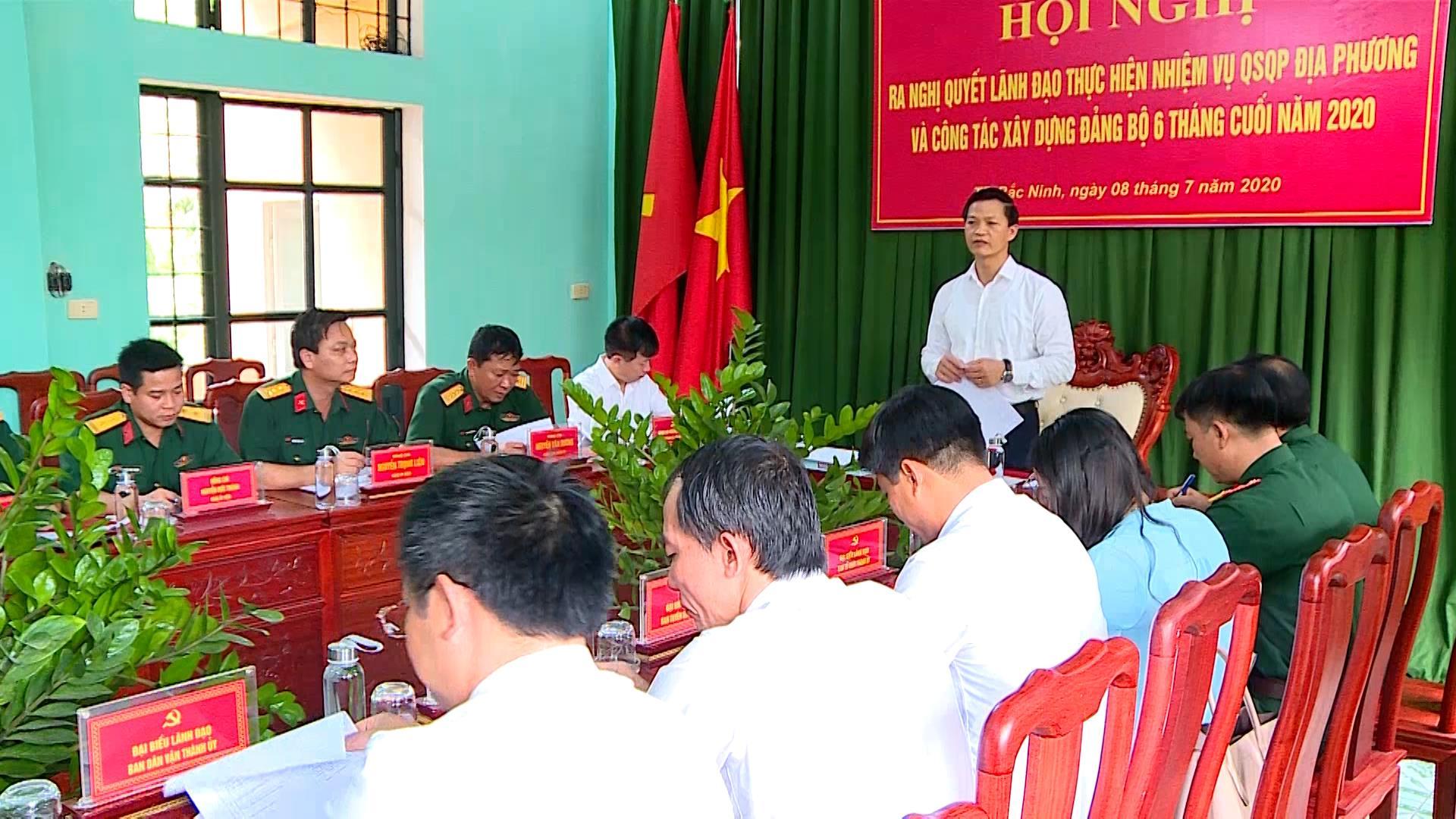 Đảng ủy Quân sự thành phố Bắc Ninh ra Nghị quyết lãnh đạo nhiệm vụ quân sự - quốc phòng địa phương